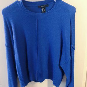 Forever 21 Cropped Cobalt Blue Sweater